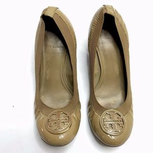 Tory Burch Caroline Wedge Heel Ballet Brown